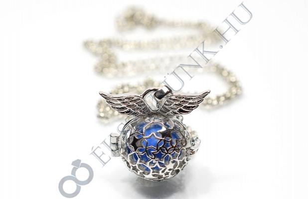 Angyalhívó nyaklánc - kék