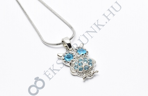 Bagoly nyaklánc - kék