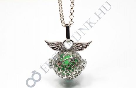 Angyalhívó nyaklánc - zöld