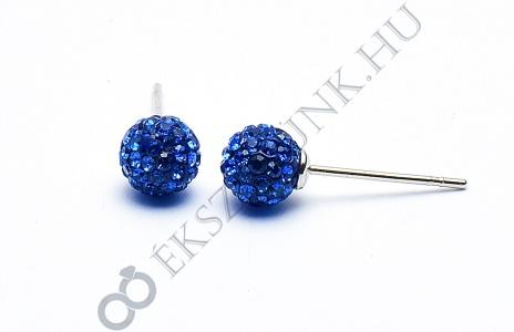 Swarovski  kék köves gömb fülbevaló 6mm