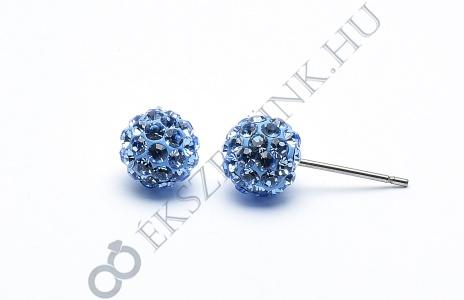 Swarovski  világos kék köves gömb fülbevaló 8mm