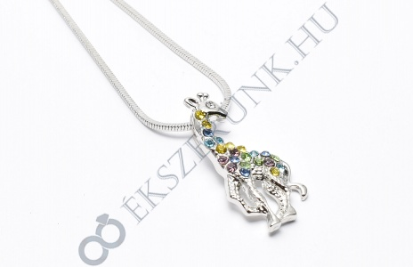 Zsiráf nyaklánc - színes